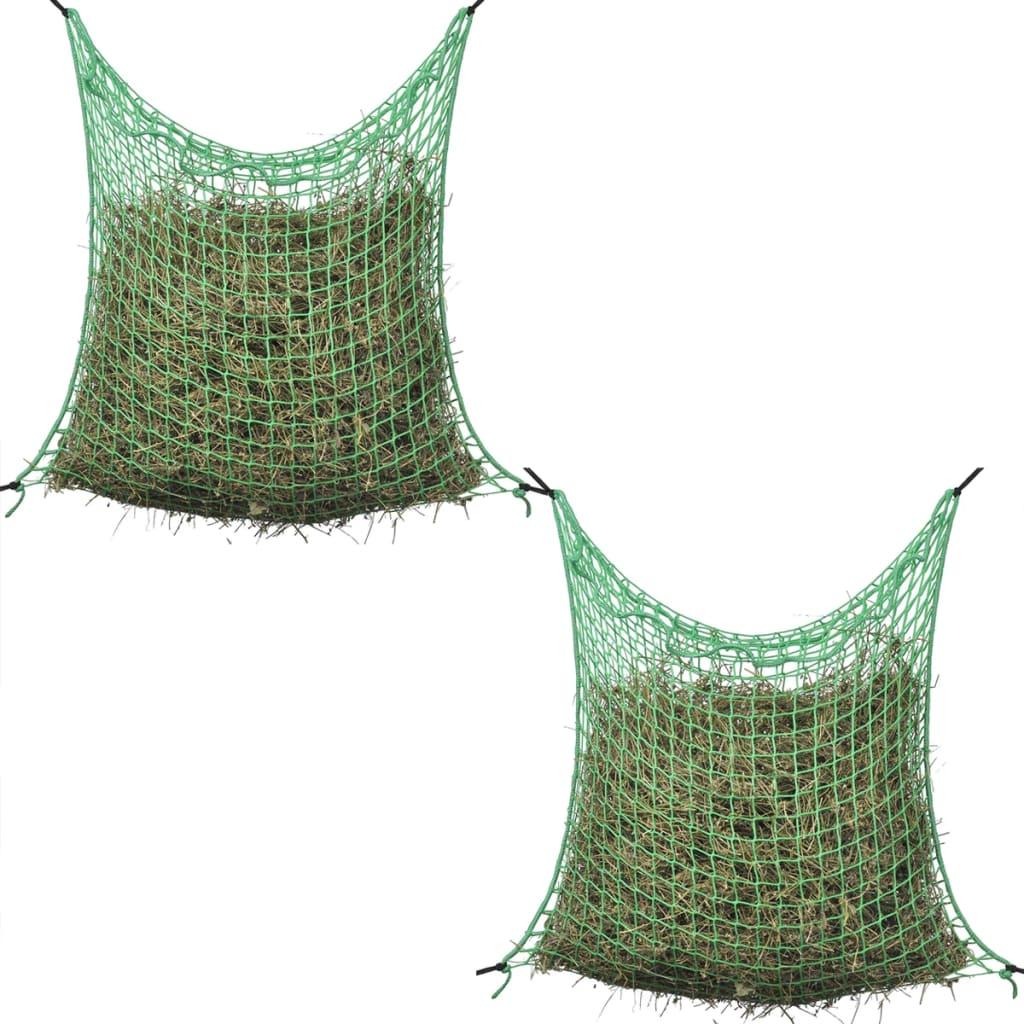 vidaXL 2 darab 0.9x1m négyzet alakú polipropilén széna háló