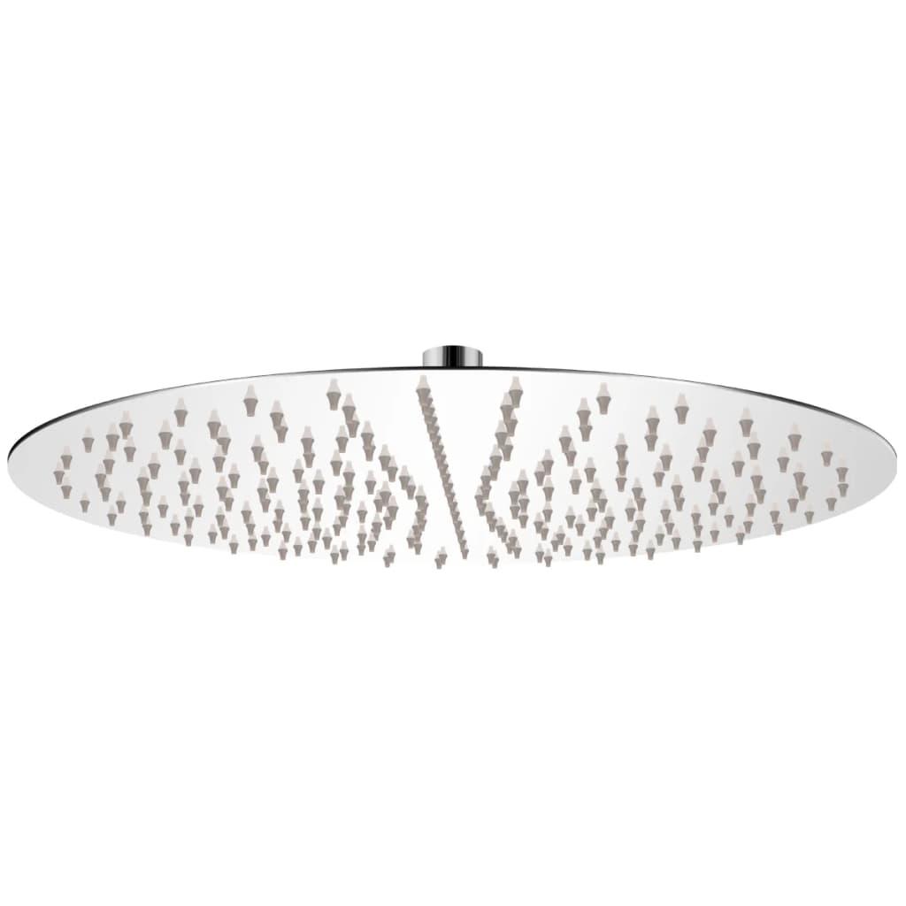 vidaXL Rozsdamentes acél zuhanyrózsa 40 cm kerek
