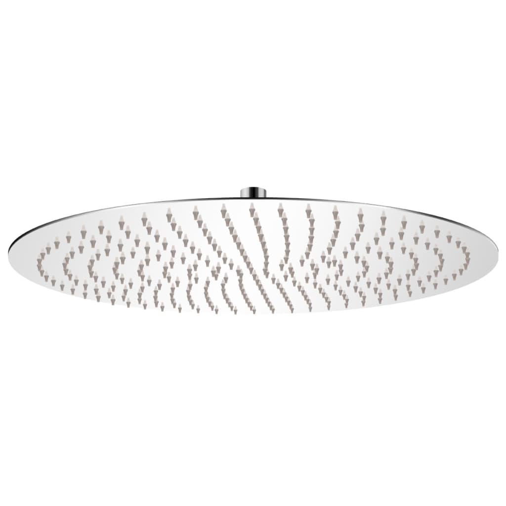 vidaXL Rozsdamentes acél zuhanyrózsa 50 cm kerek