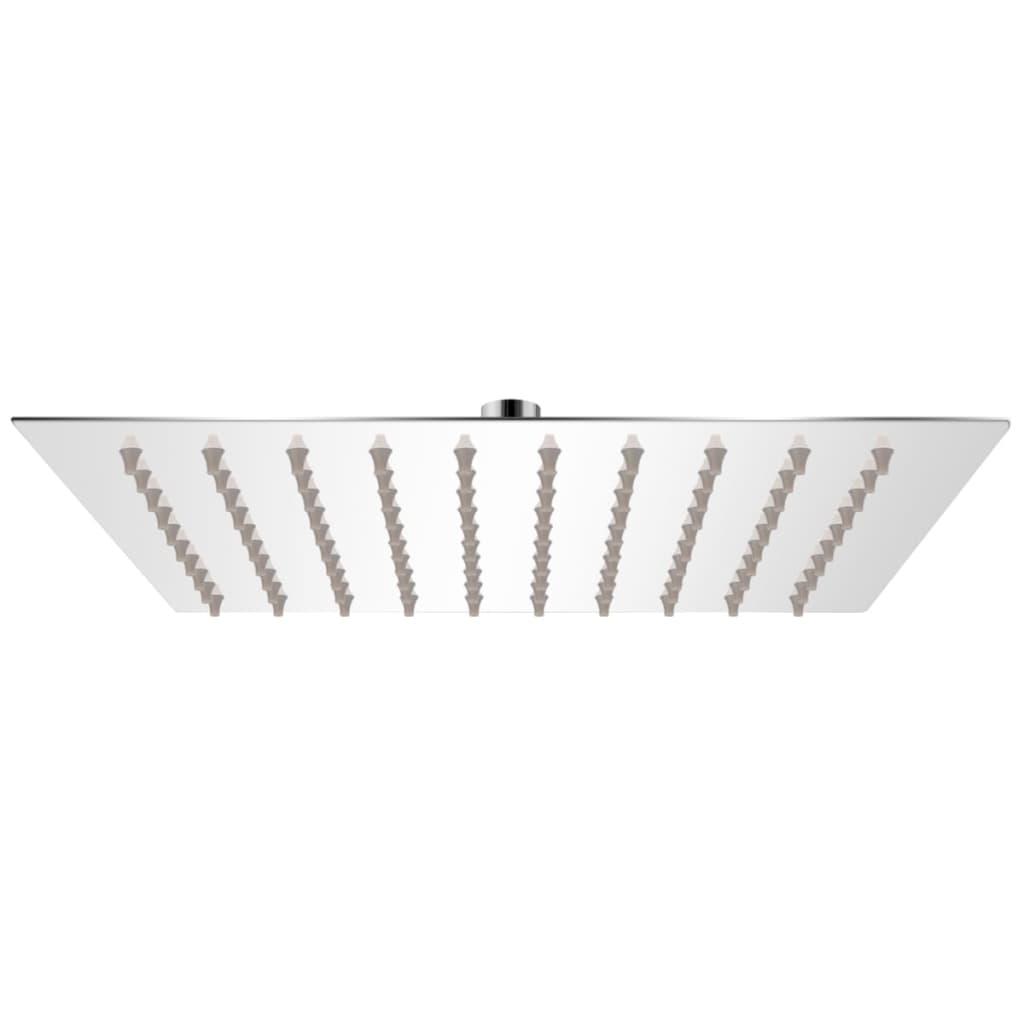 vidaXL Rozsdamentes acél zuhanyrózsa 20x20 cm négyszögletes