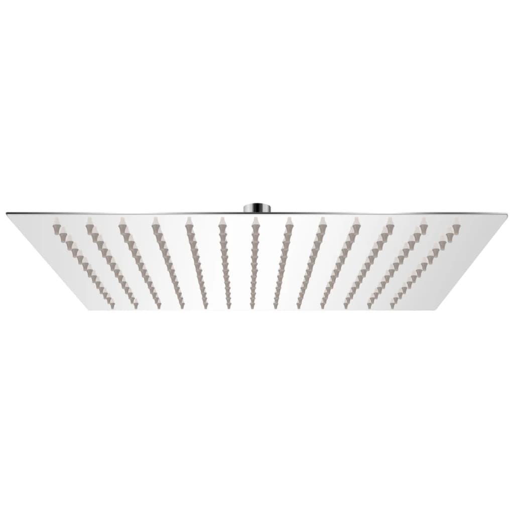 vidaXL Rozsdamentes acél zuhanyrózsa 25x25 cm négyszögletes