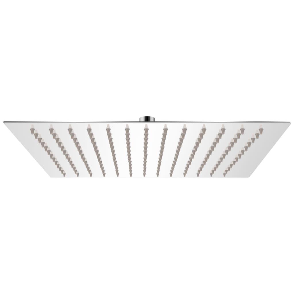 vidaXL Rozsdamentes acél zuhanyrózsa 30x30 cm négyszögletes