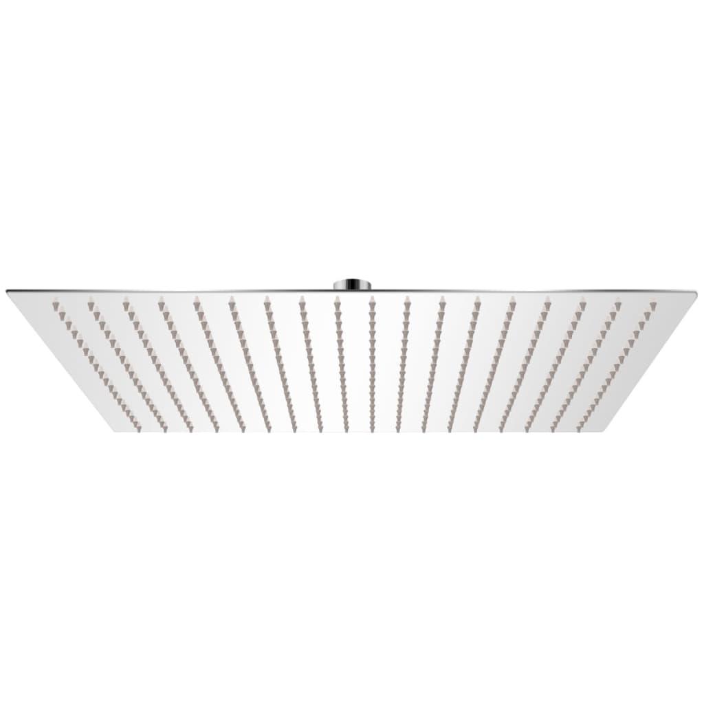 vidaXL Rozsdamentes acél zuhanyrózsa 50x50 cm négyszögletes