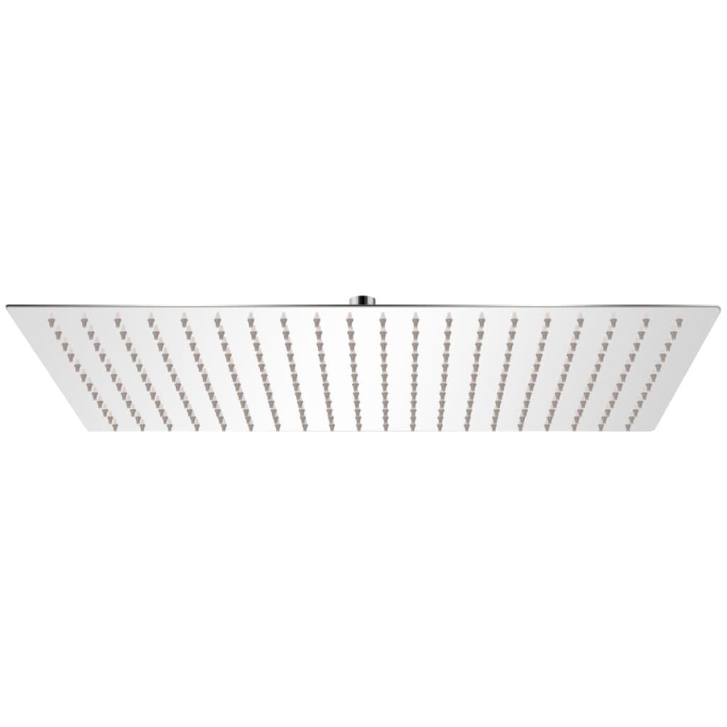 vidaXL Rozsdamentes acél zuhanyrózsa 30x50 cm téglalap alakú