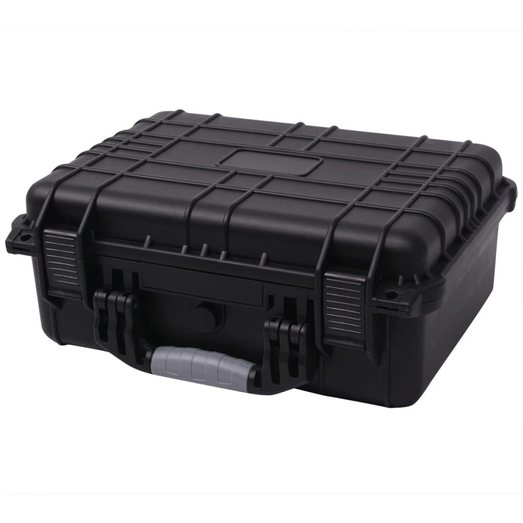 Afbeelding van vidaXL Beschermende materiaalkoffer 40,6x33x17,4 cm zwart