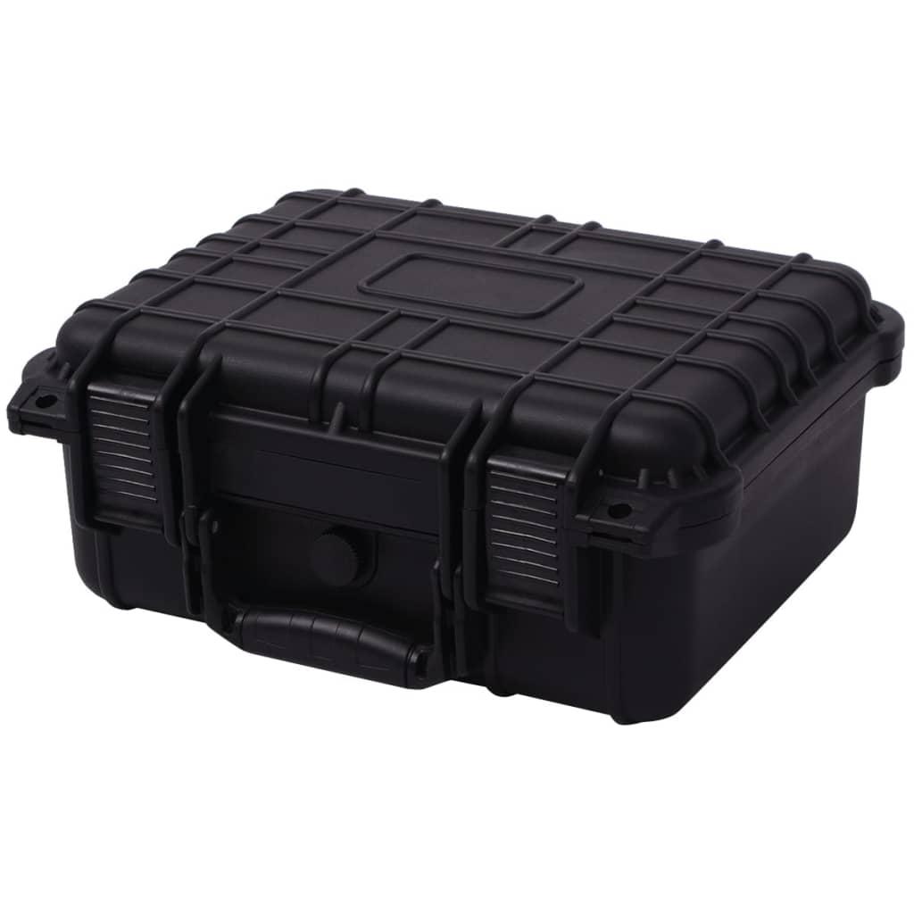 Afbeelding van vidaXL Beschermende materiaalkoffer 35x29,5x15 cm zwart