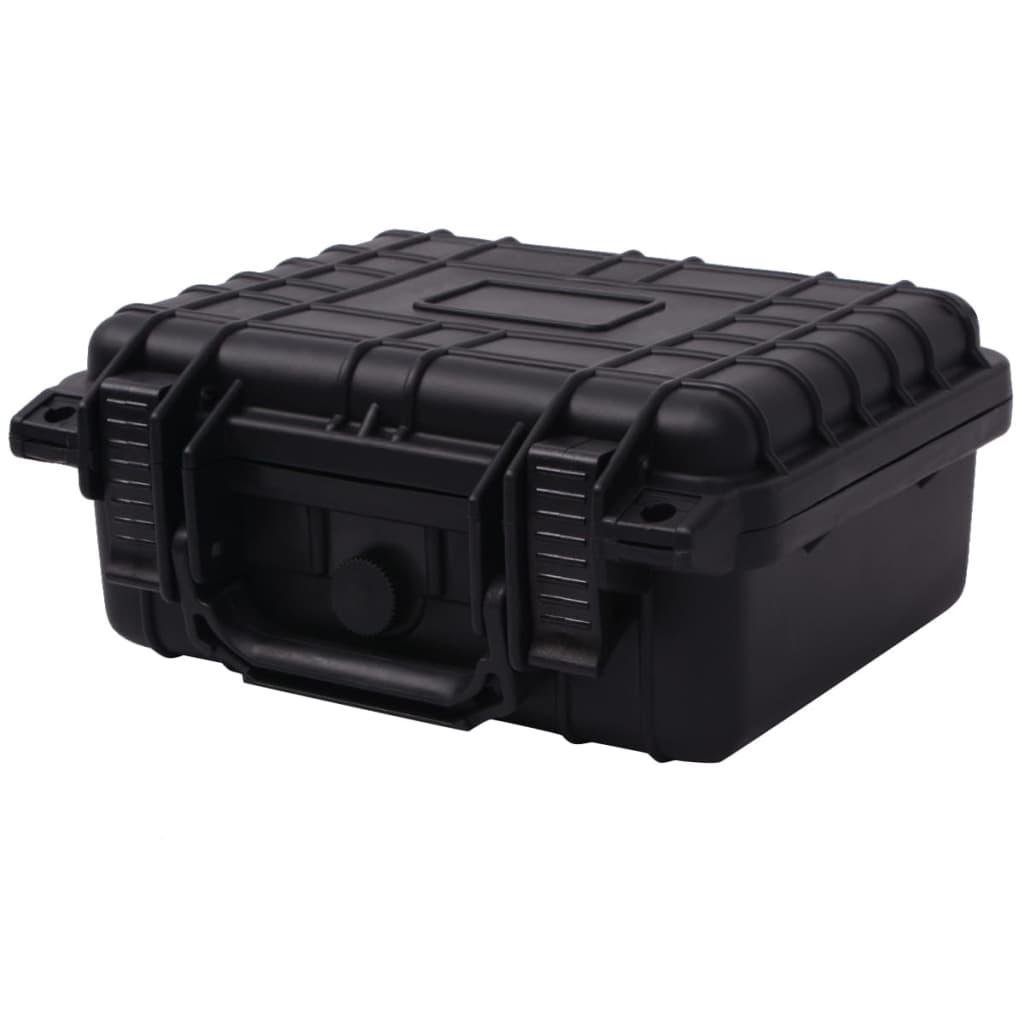 Afbeelding van vidaXL Beschermende materiaalkoffer 27x24,6x12,4 cm zwart