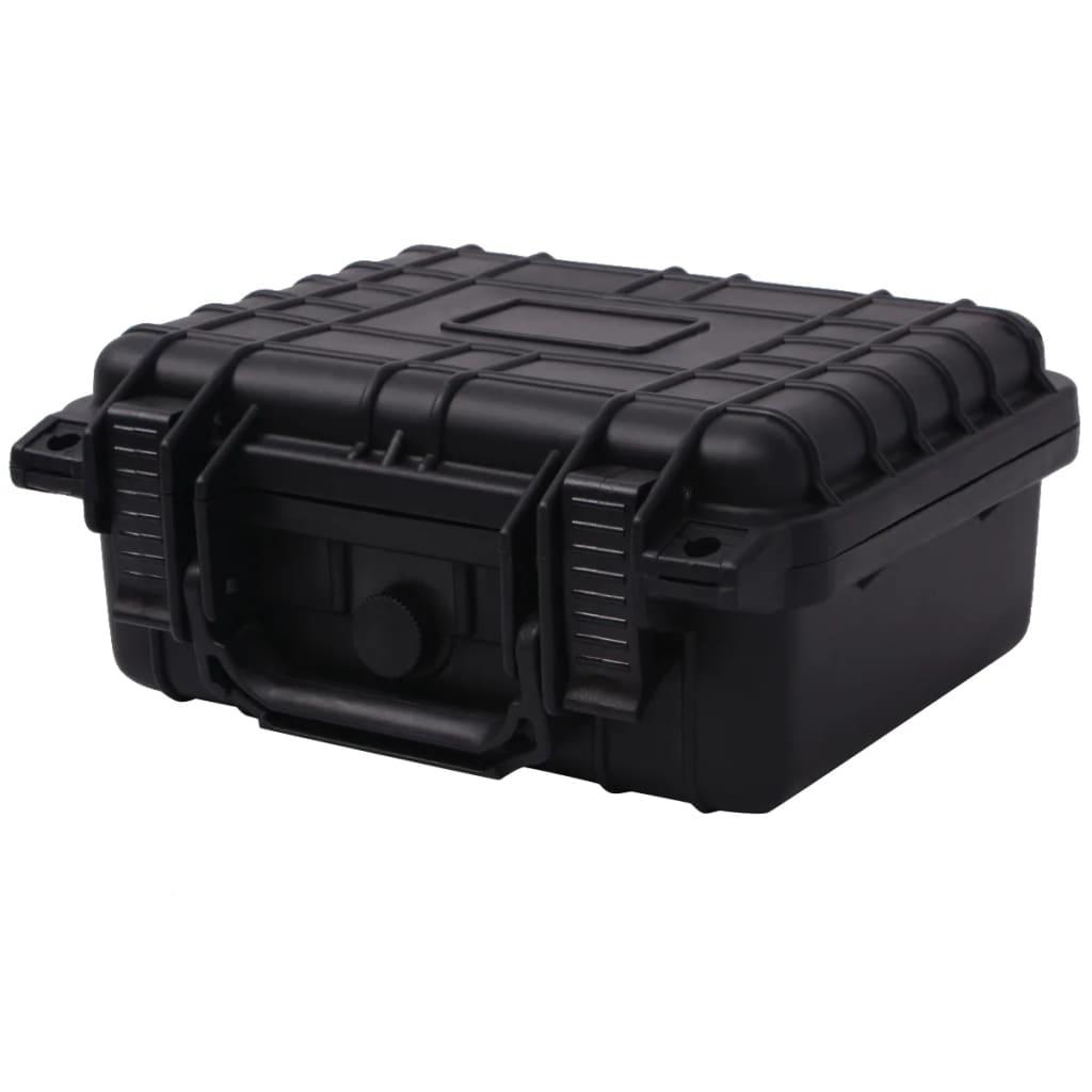 vidaXL 27x24,6x12,4 cm védőtáska fekete