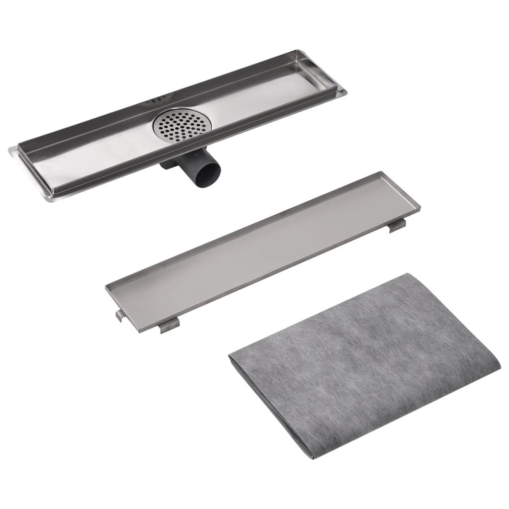 vidaXL-Desague-Lineal-de-Ducha-Tamano-530x140-mm-Flujo-40-L-min-Acero-Inoxidable
