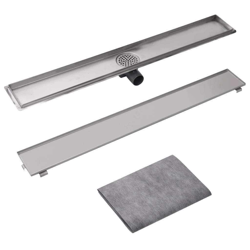 Vidaxl Linear Shower Drain 930x140 Mm Stainless Steel