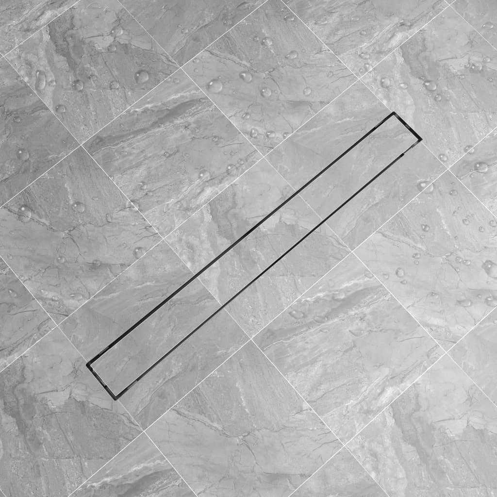 vidaXL 930x140 mm lineáris rozsdamentes acél zuhany lefolyó