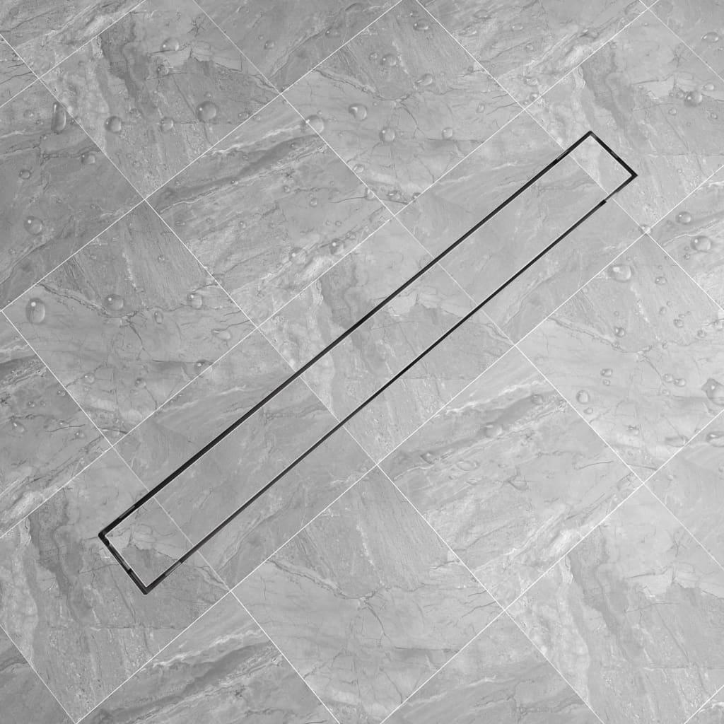 vidaXL rozsdamentes acél tusoló lefolyó 1030 x 140 mm