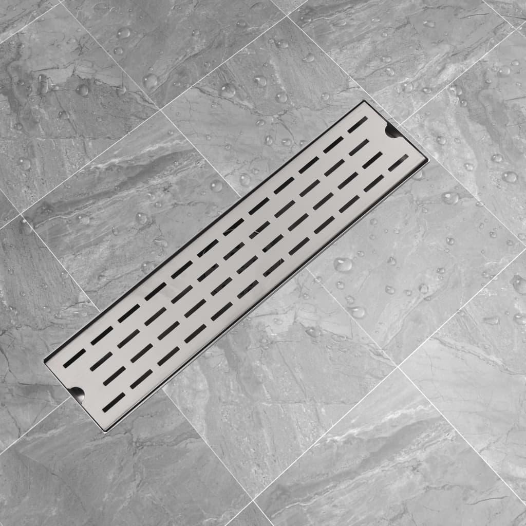 vidaXL 530x140 mm rozsdamentes acél zuhany lefolyó
