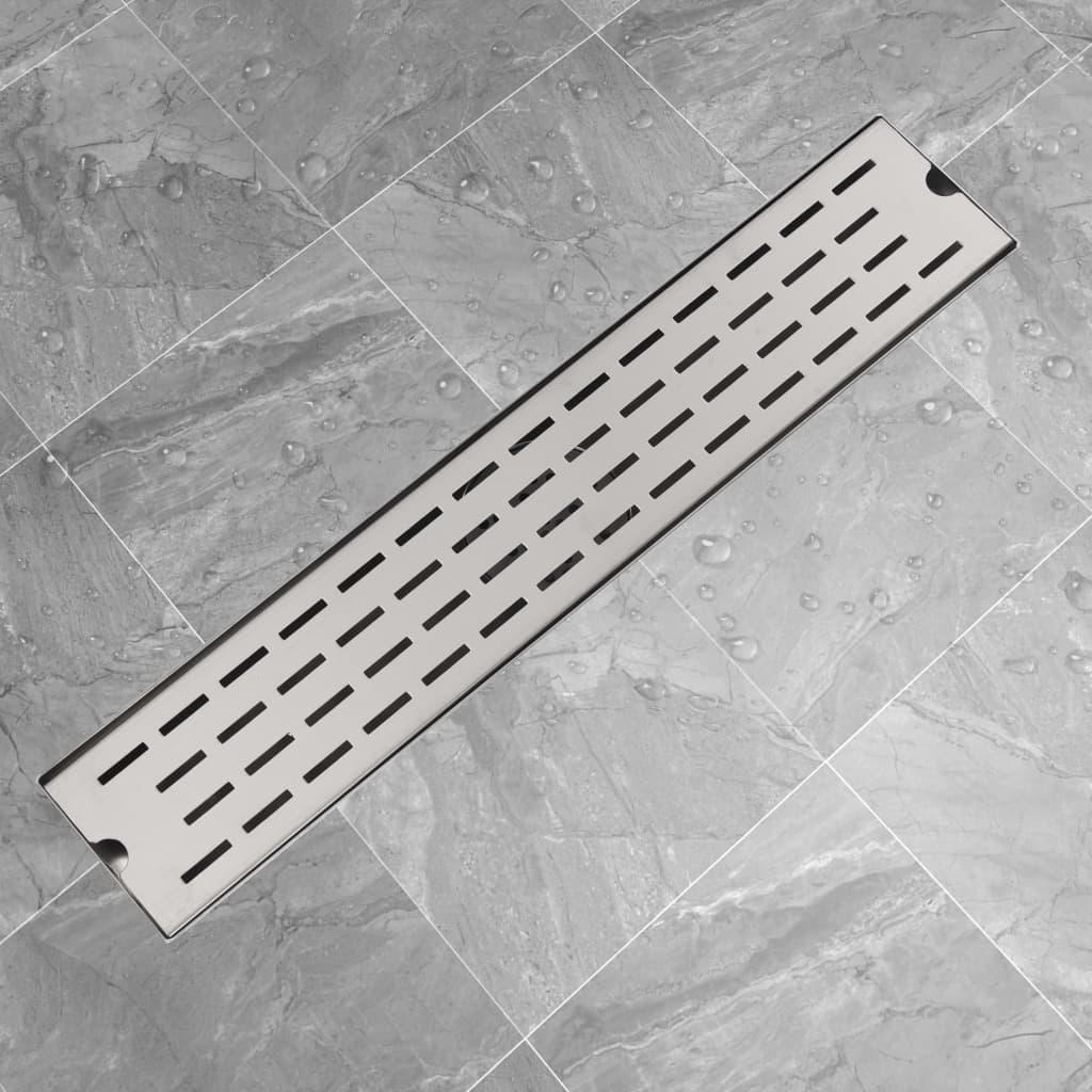 vidaXL 630x140 mm Lineáris rozsdamentes acél zuhany lefolyó