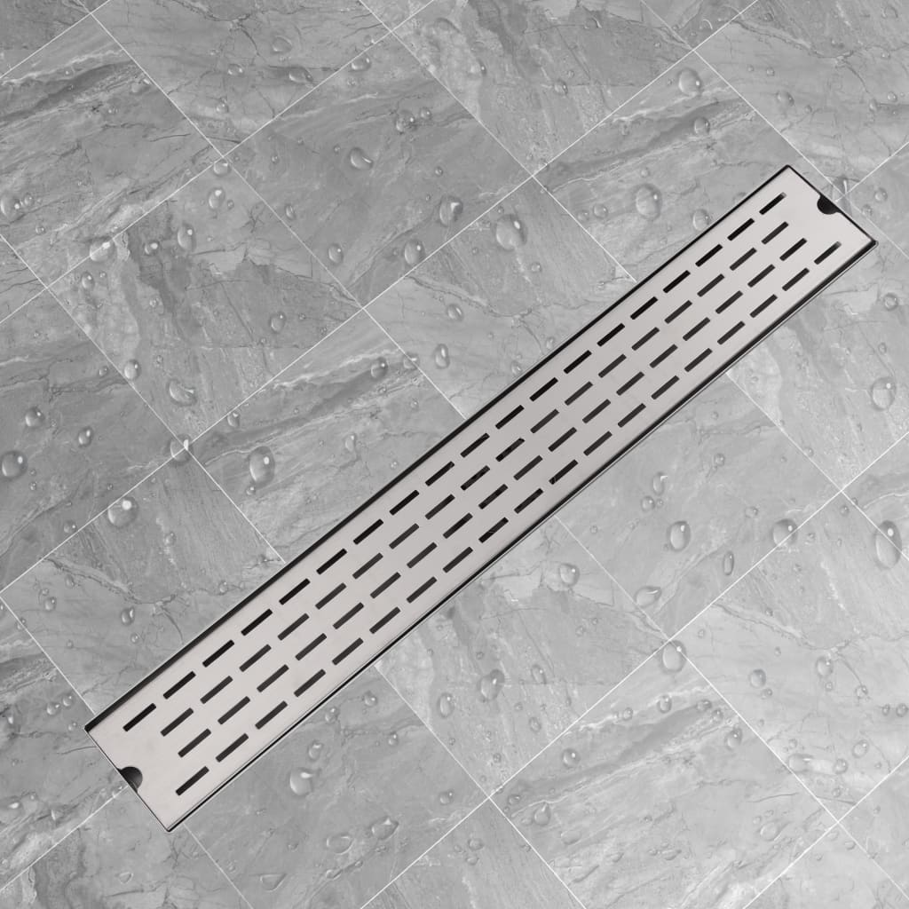vidaXL 830x140 mm lineáris rozsdamentes acél zuhany lefolyó