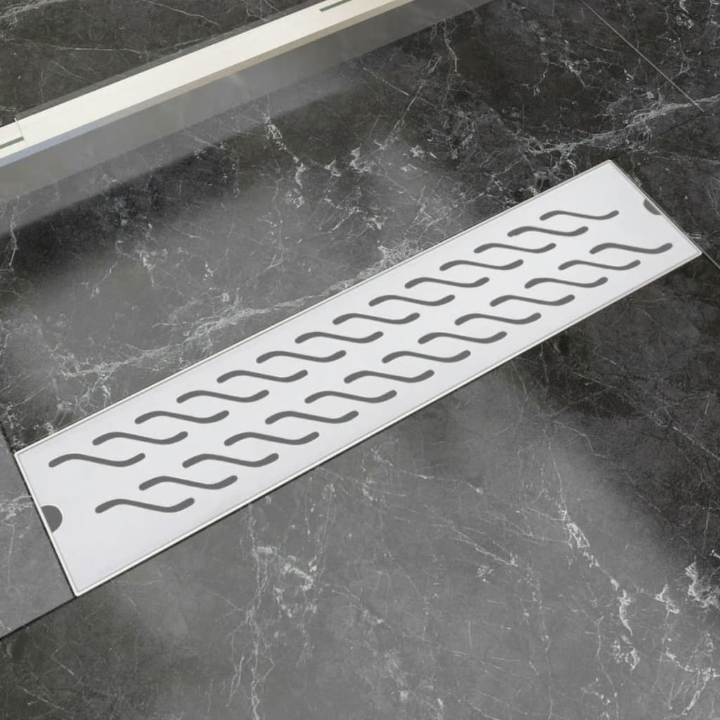 vidaXL 530x140 mm lineáris rozsdamentes acél zuhany lefolyó
