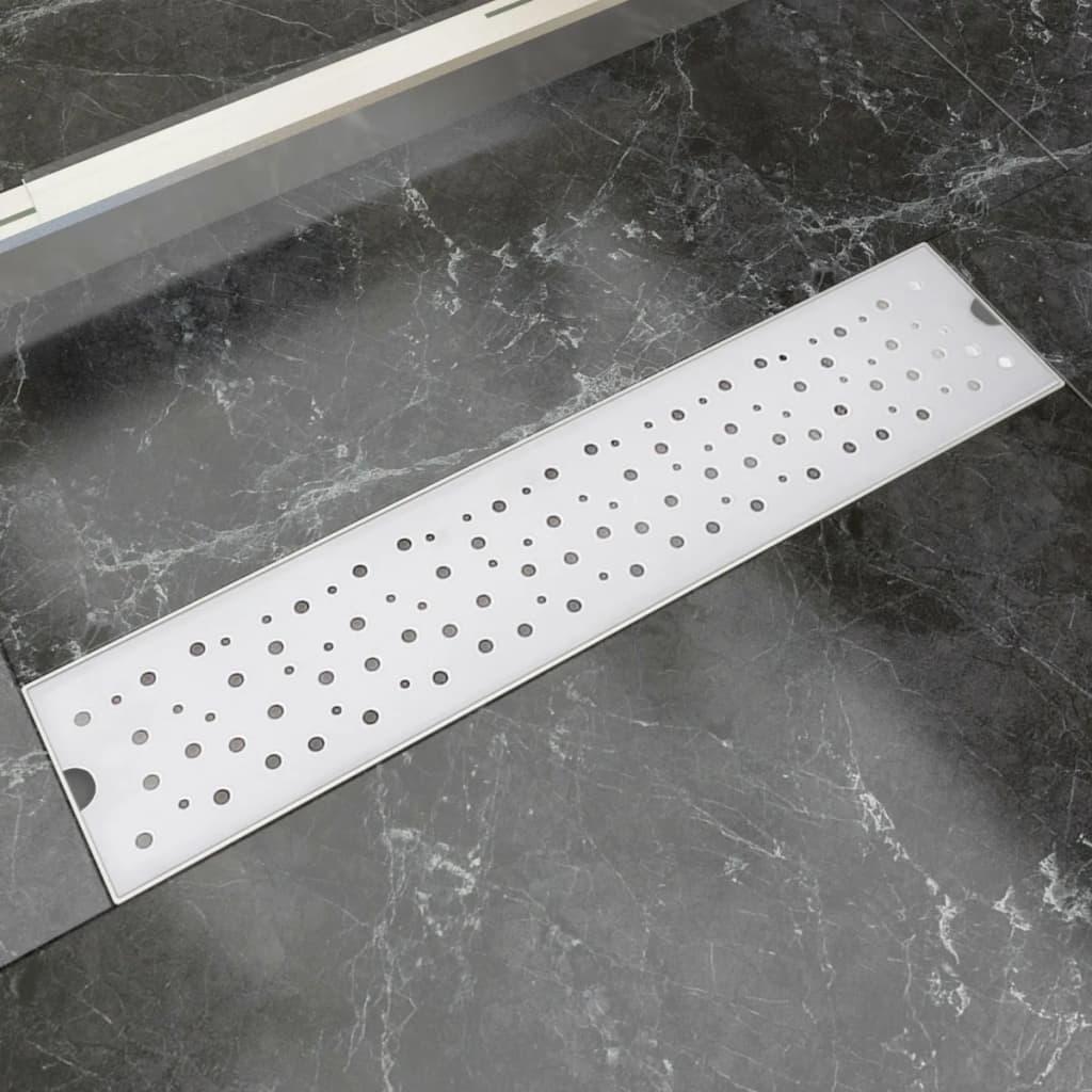 vidaXL 530x140 mm Lineáris rozsdamentes acél buborék zuhany lefolyó
