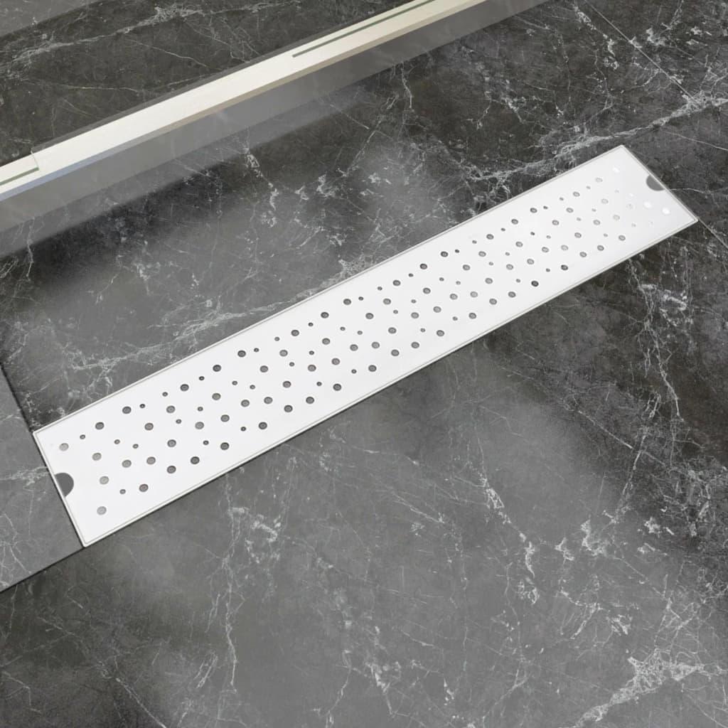 vidaXL 630x140 mm Lineáris rozsdamentes acél buborék zuhany lefolyó