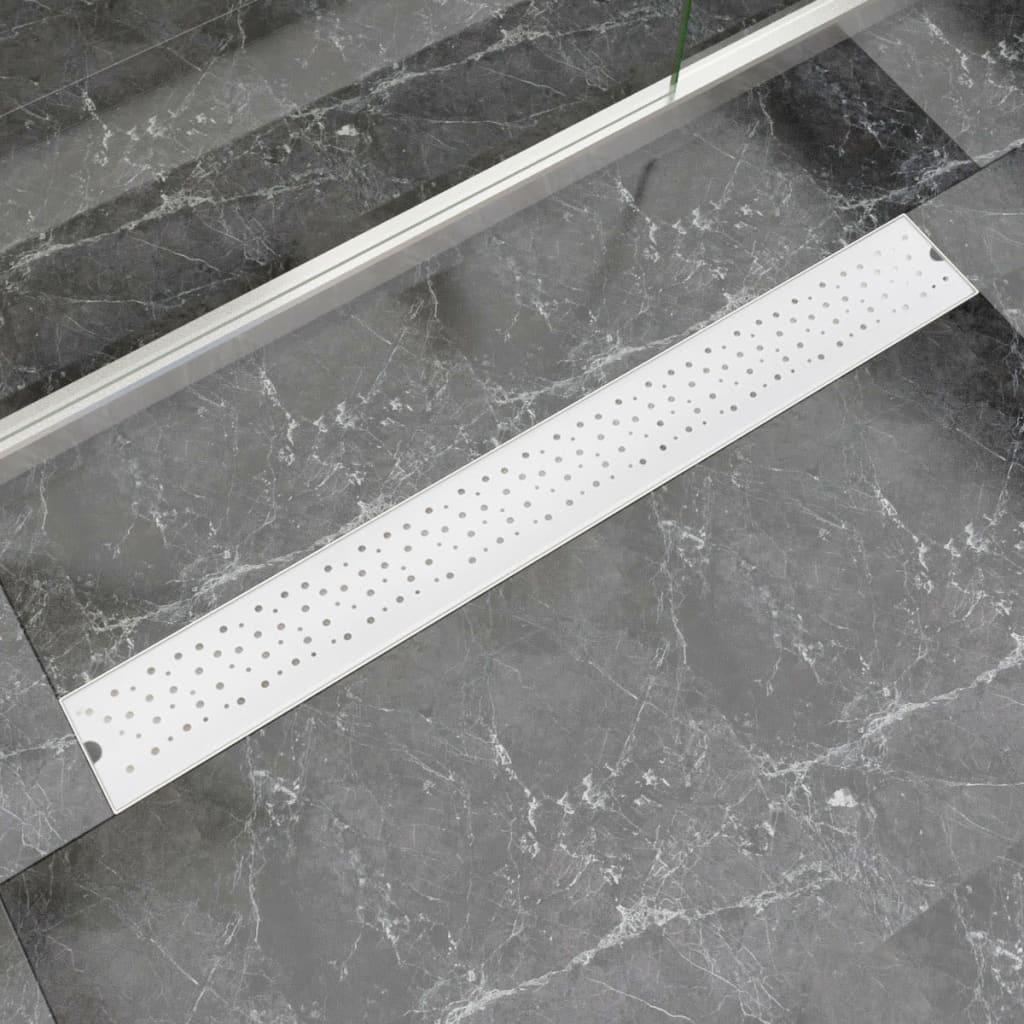vidaXL 930x140 mm Lineáris rozsdamentes acél buborék zuhany lefolyó
