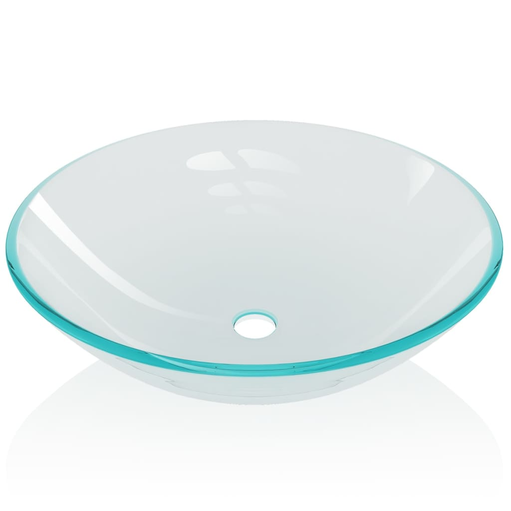 Vidaxl lavabo lavandino in vetro temprato bagno lavanderia - Lavandino in vetro bagno ...
