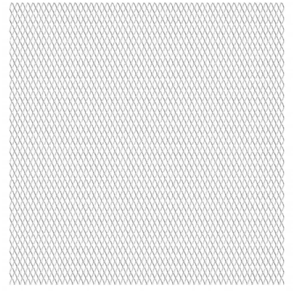 vidaXL Gittermatte Streckmetall Edelstahl 50×50 cm 20×10×2 mm