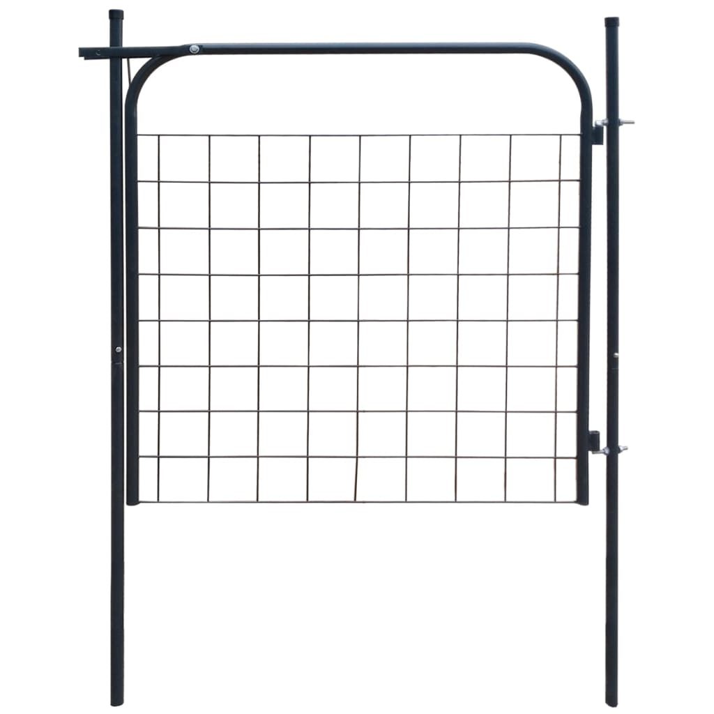 vidaXL 100x100 Antracit kerti kerítés kapu
