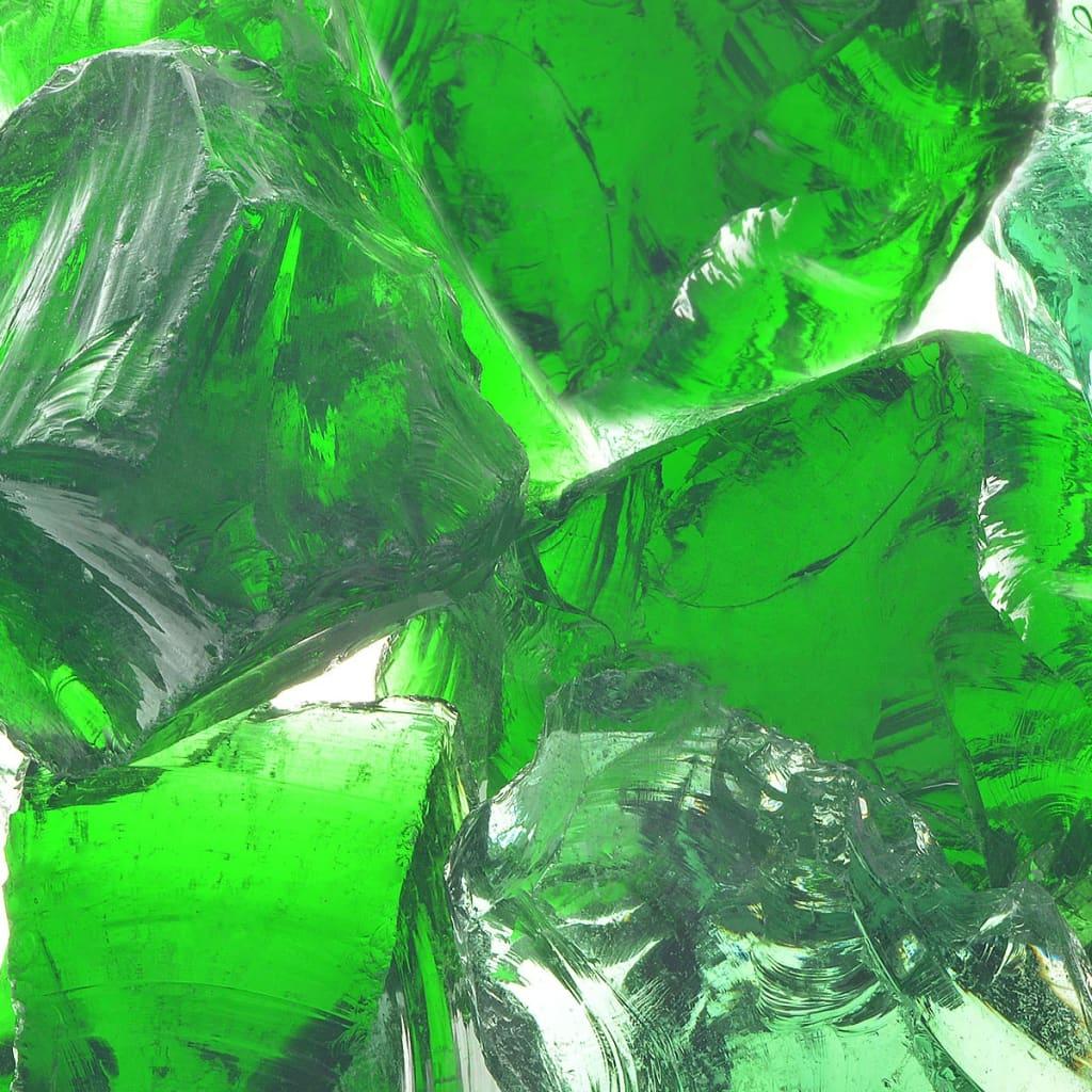Afbeelding van vidaXL Gabion stenen 25 kg groen 60-120 mm glas