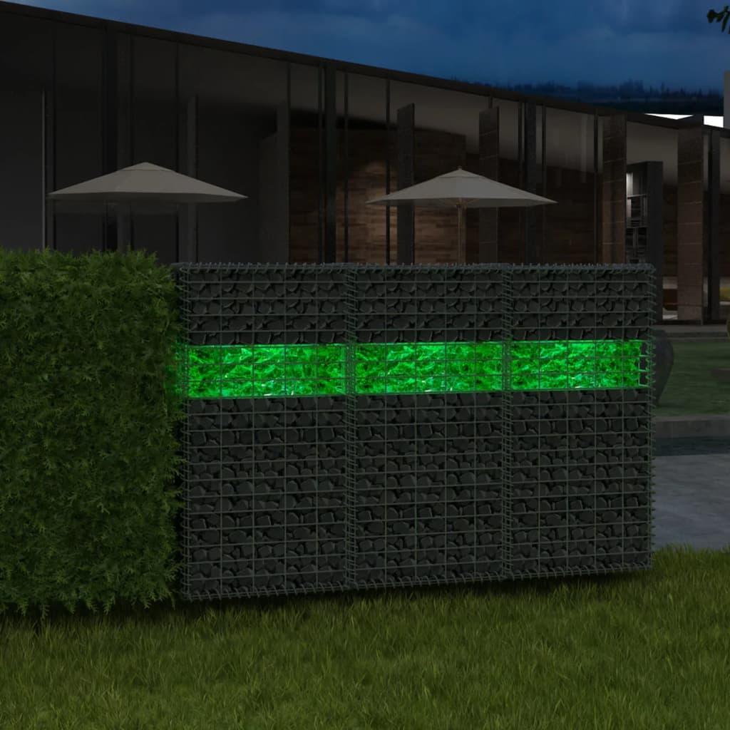 vidaXL Gabionensteine aus Glas Grün 60-120 mm 25 kg
