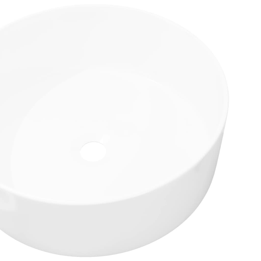 vidaxl keramik aufsatz waschbecken waschtisch waschplatz badzimmer rund 40x15 cm ebay. Black Bedroom Furniture Sets. Home Design Ideas