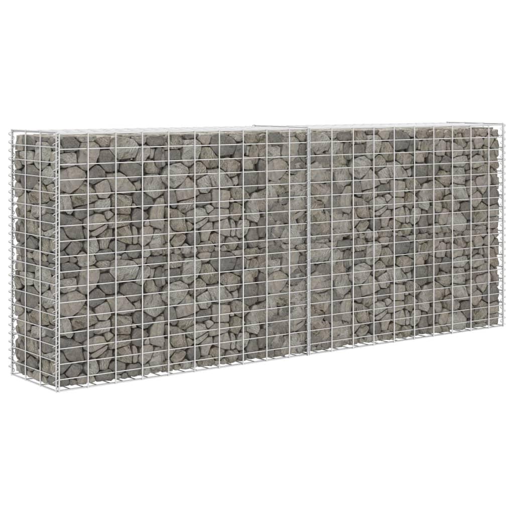 vidaXL Gabion / kőkosár acél 85x30x200 cm ezüst