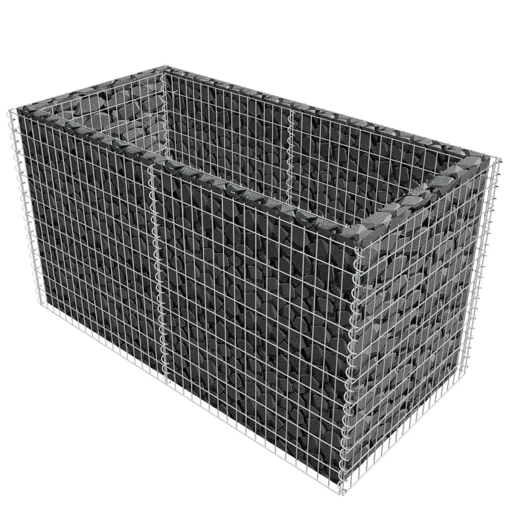 vidaxl gabione pflanzenkorb stahl 180 x 90 x 100 cm silber g nstig kaufen. Black Bedroom Furniture Sets. Home Design Ideas