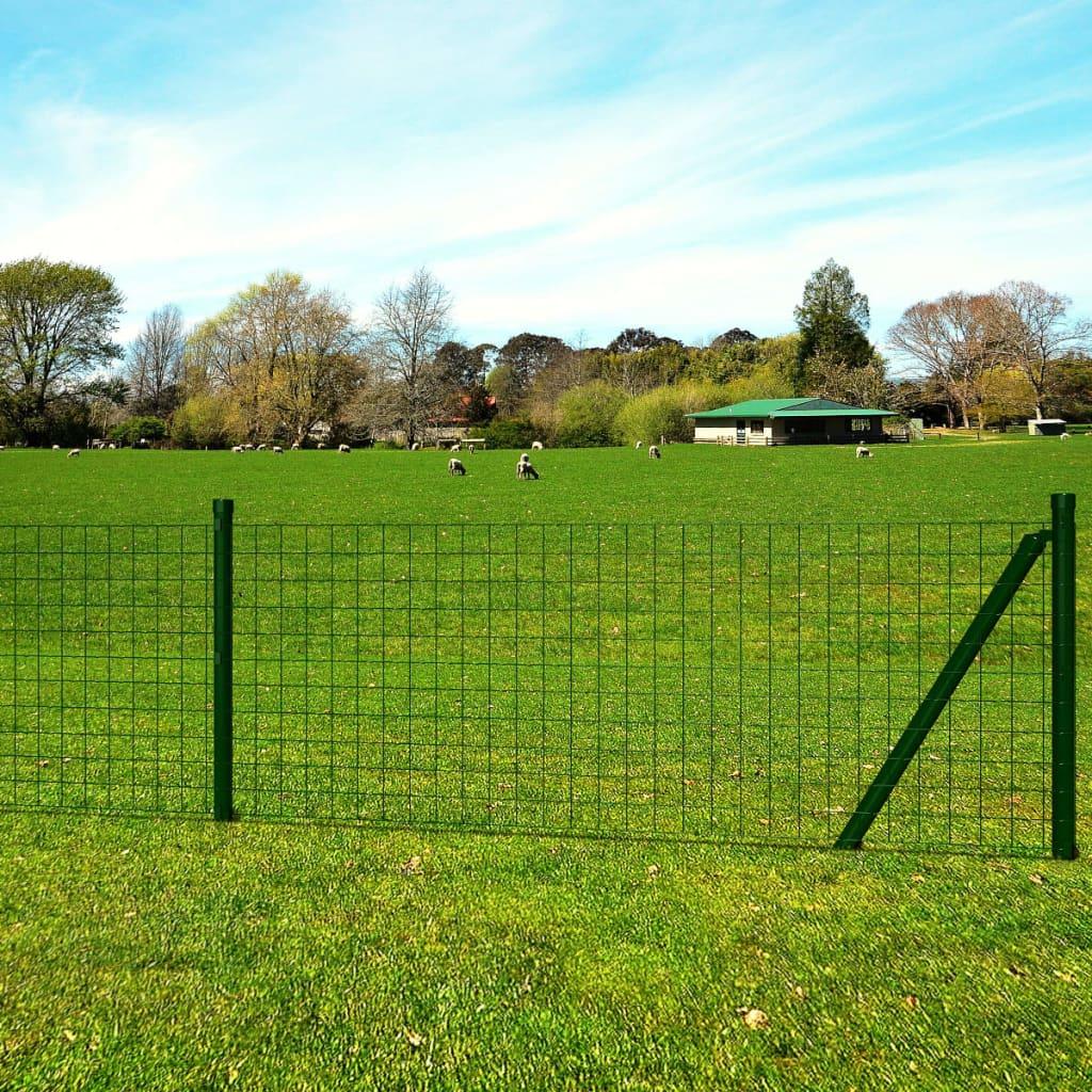 vidaXL Euro Fence zöld acélkerítés szett 10 x 1 m
