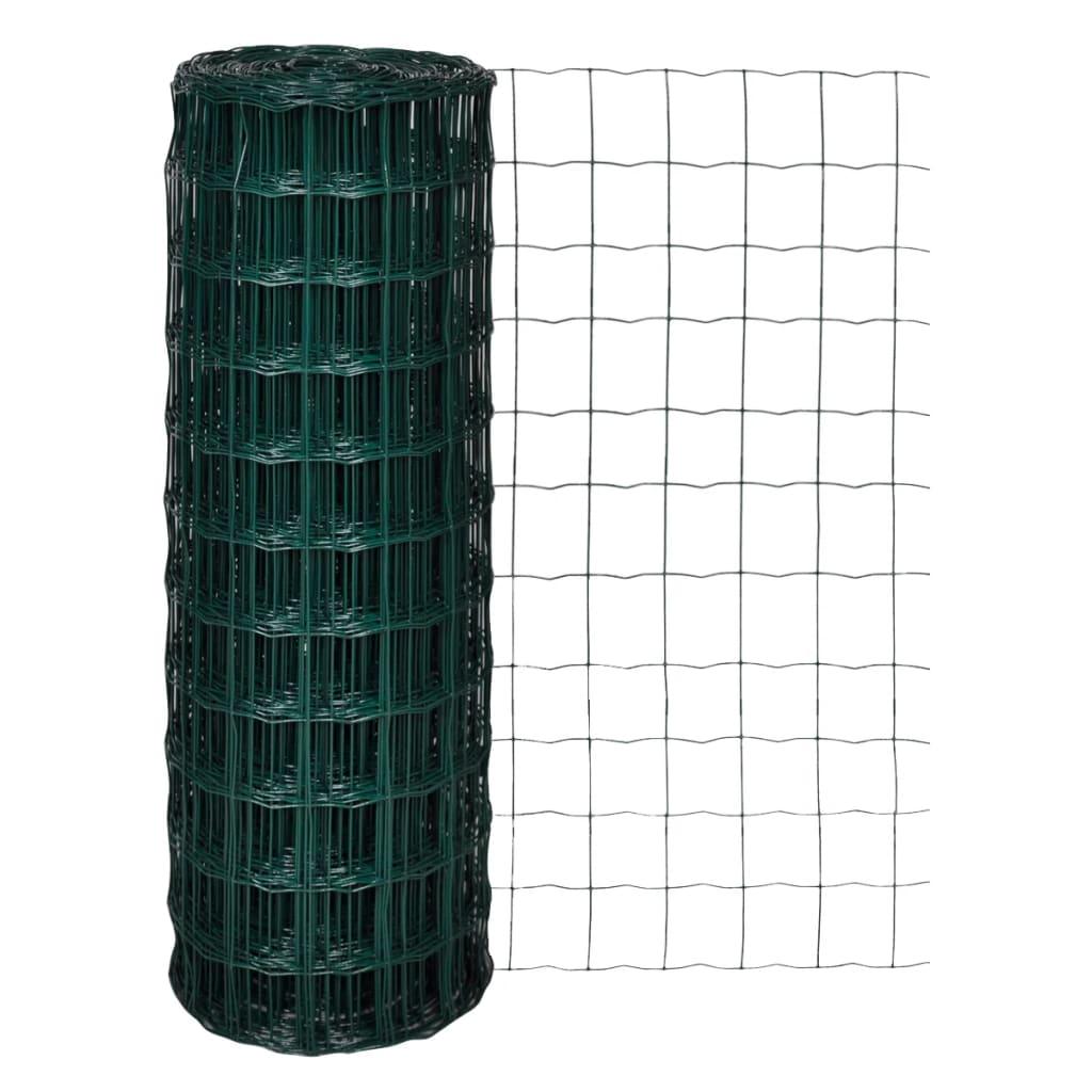 vidaXL 10x1,7 m Euro kerítés 100x100 mm acél hálóval