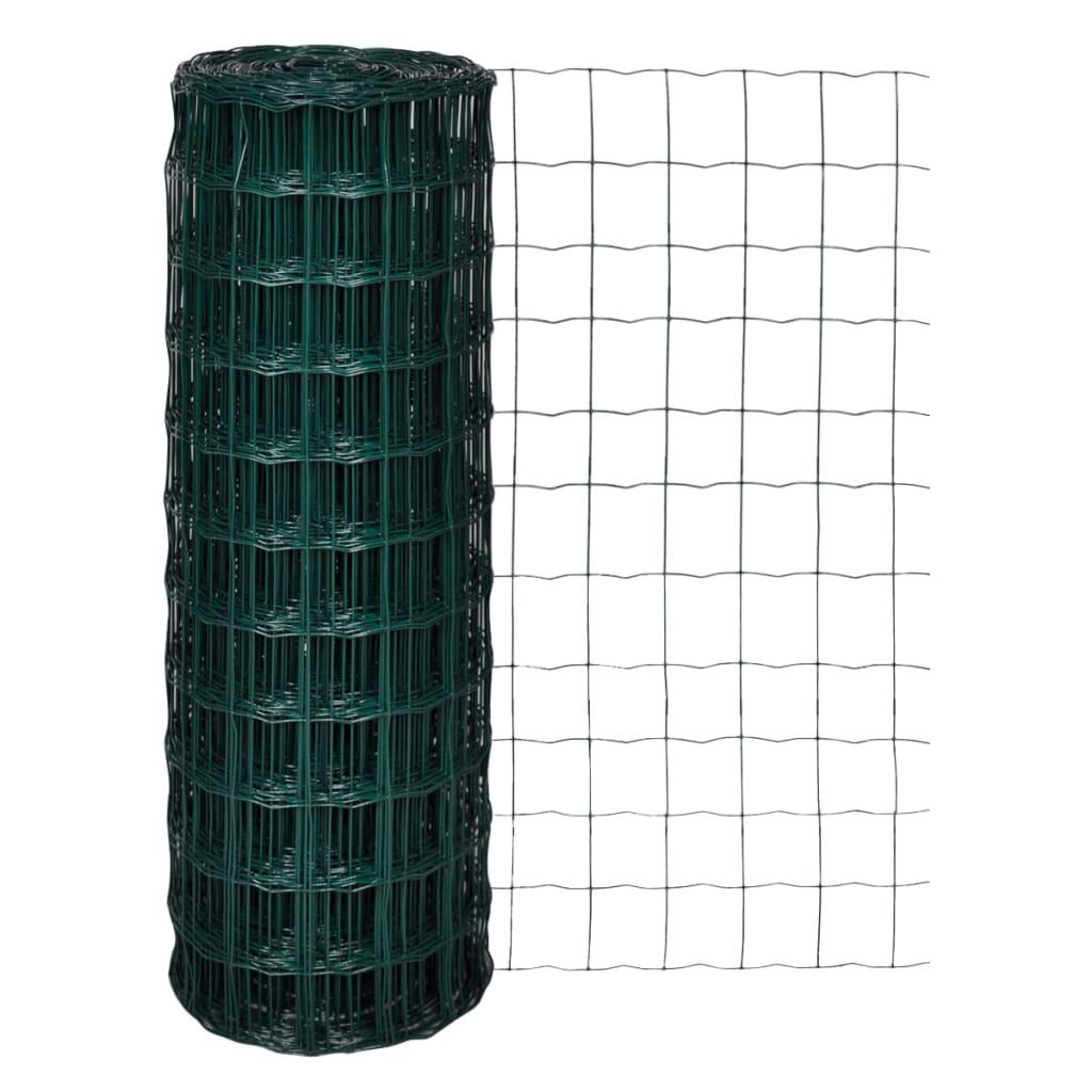 vidaXL 25x1,7 m Euro kerítés 100x100 mm acél hálóval
