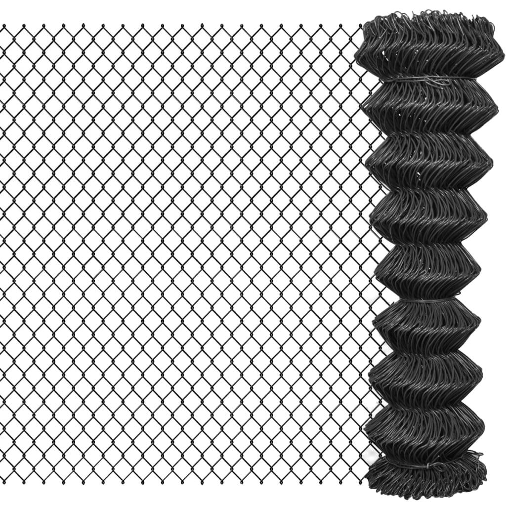 vidaXL szürke acél drótkerítés 15 x 1,5 m