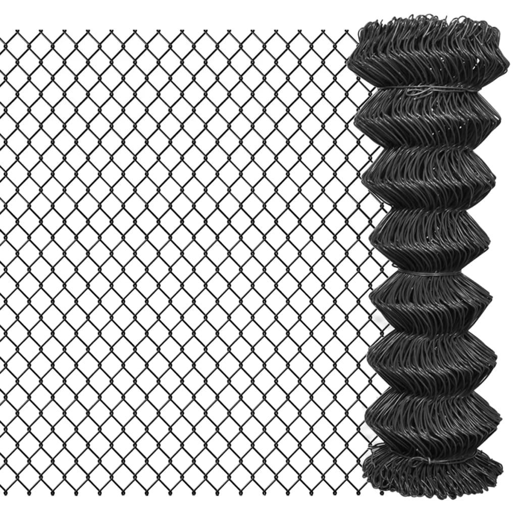 vidaXL szürke acél drótkerítés 25 x 1,25 m