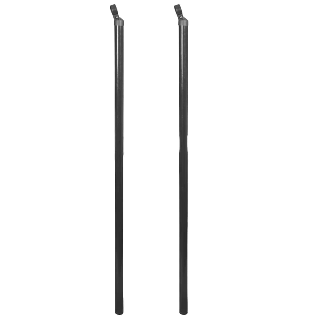 vidaXL 2 db szürke tartópózna drótkerítéshez 170 cm