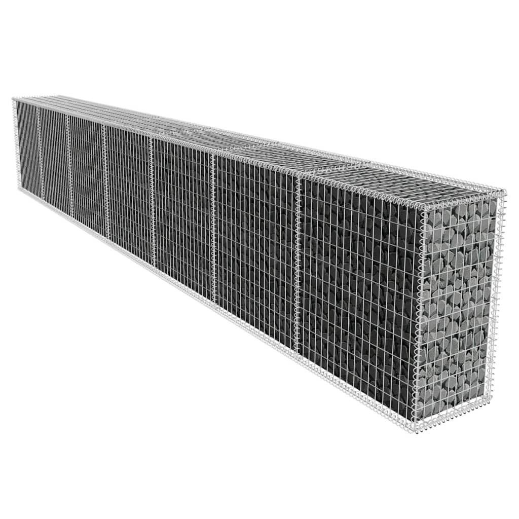 vidaXL gabion fal fedéllel 600 x 50 100 cm