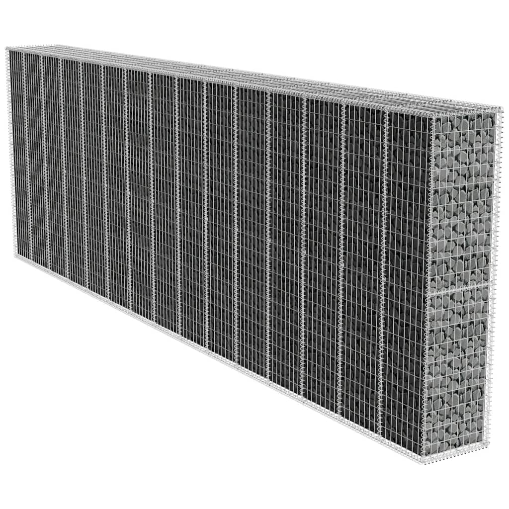 vidaXL gabion fal fedéllel 600 x 50 200 cm