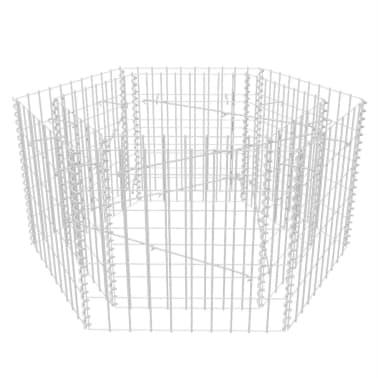 vidaxl sechseckiger gabionen pflanztopf 100 x 90 x 50 cm im vidaxl trendshop. Black Bedroom Furniture Sets. Home Design Ideas