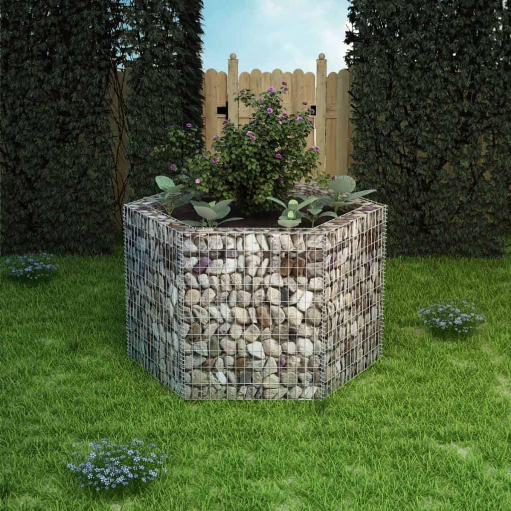 Acheter vidaxl jardini re gabion hexagonale 160 x 139 x - Gabion pas cher ...
