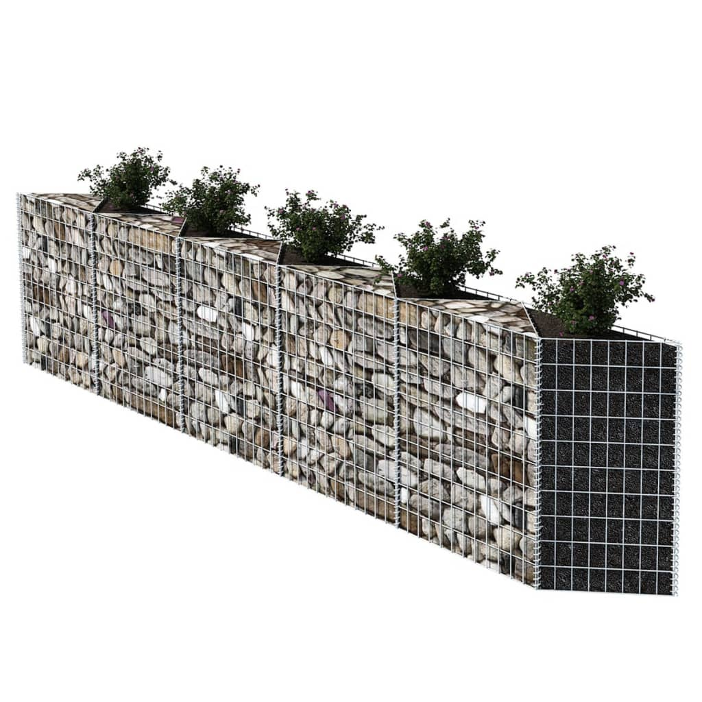 acheter vidaxl panier gabion jardini re parterre sur lev acier 330x30x100 cm pas cher. Black Bedroom Furniture Sets. Home Design Ideas