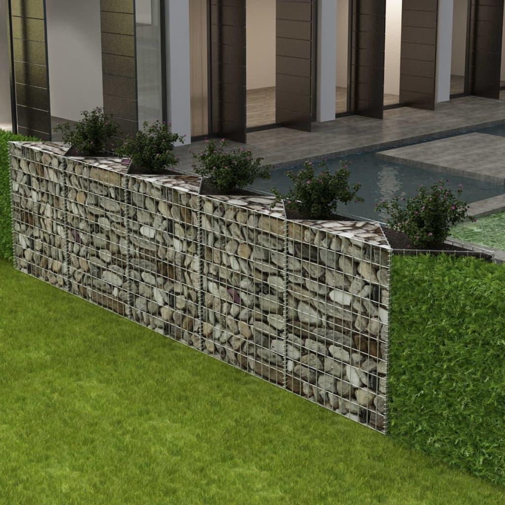 vidaXL acél gabion kosár / emelt növény ágyás 330 x 30 100 cm