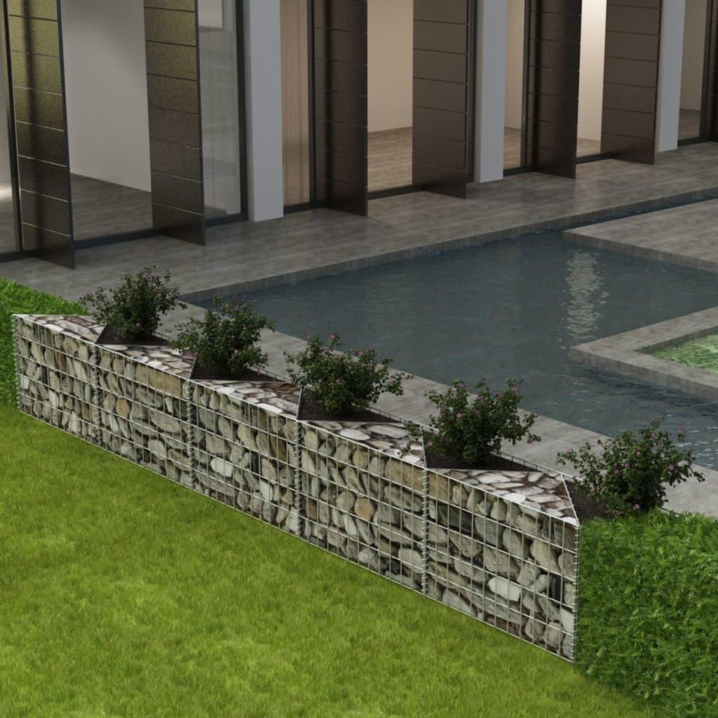 acheter vidaxl panier gabion jardini re parterre sur lev acier 330x30x50 cm pas cher. Black Bedroom Furniture Sets. Home Design Ideas