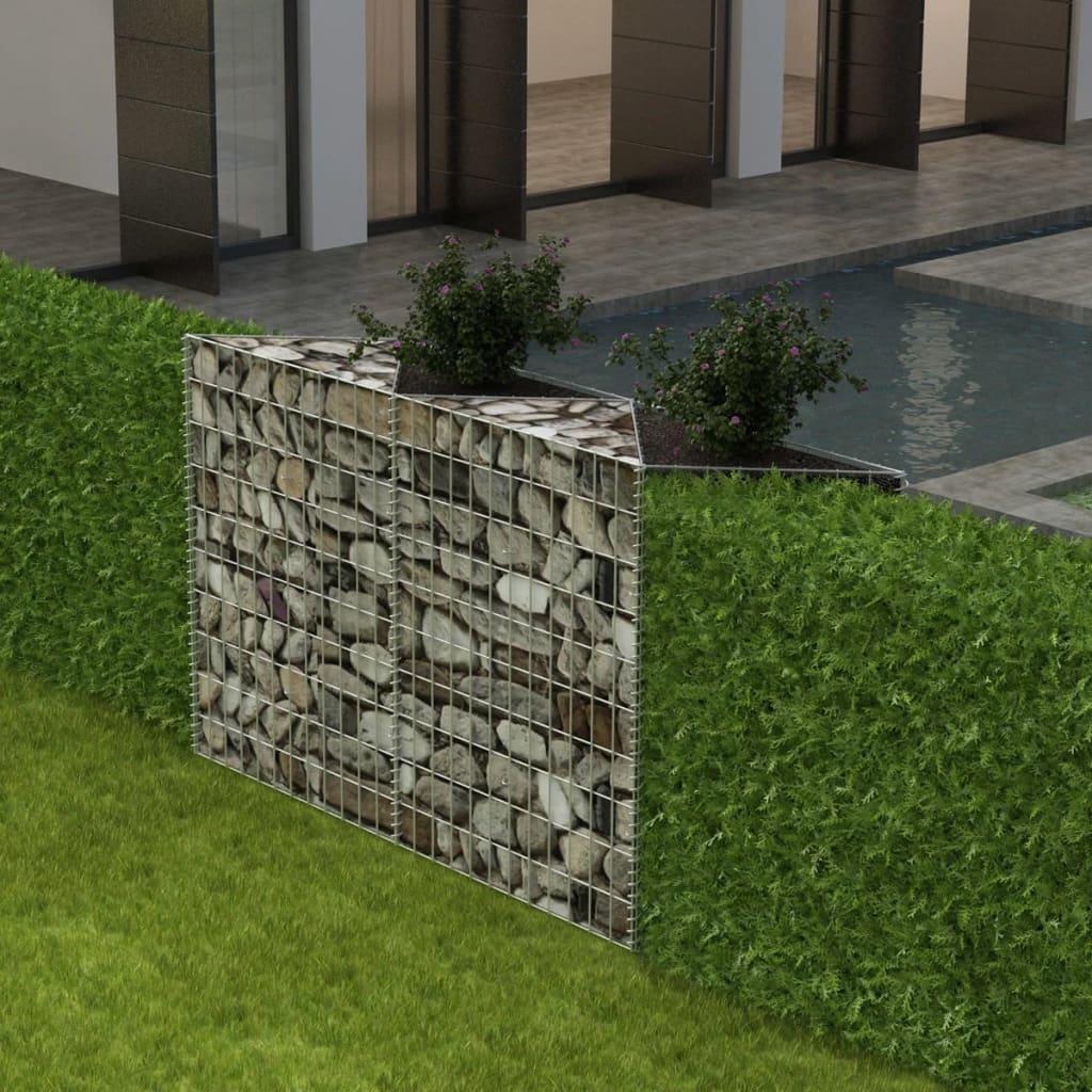 vidaXL acél gabion kosár / emelt növény ágyás 150 x 30 100 cm