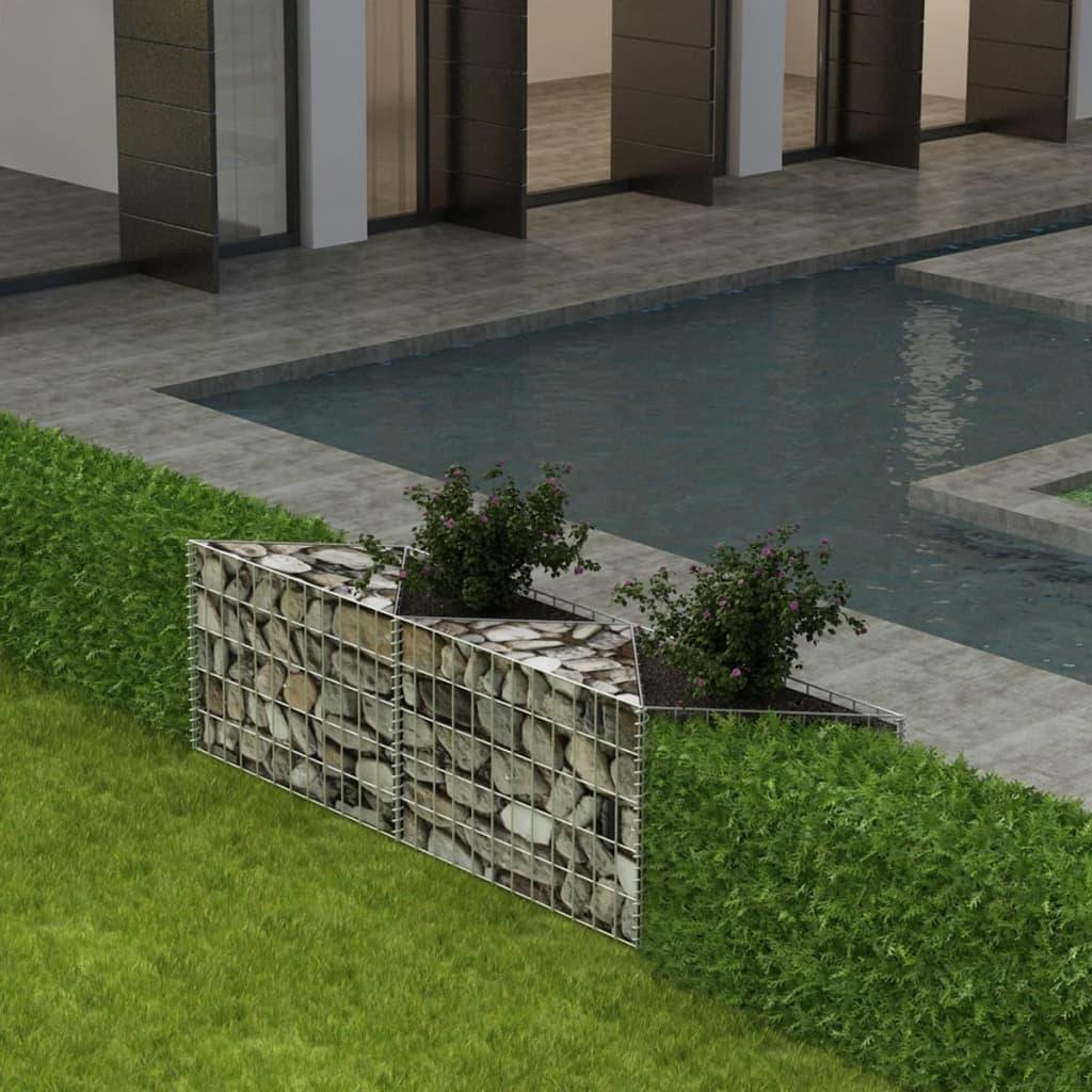 vidaXL acél gabion kosár / emelt növény ágyás 150 x 30 50 cm