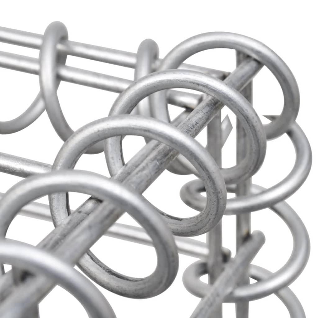vidaXL-Jardinera-Poste-de-Gaviones-Rectangular-Acero-Galvanizado-50x50x120-cm