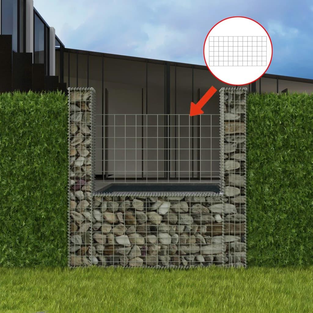 vidaXL U-alakú acél gabion / kőkosár 160 x 20 150 cm
