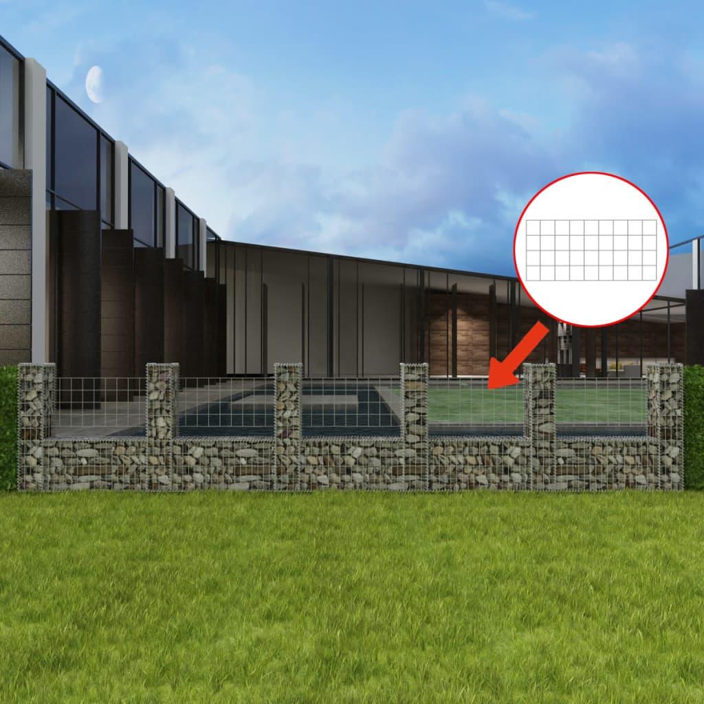 vidaXL U-alakú acél gabion / kőkosár 570 x 20 100 cm