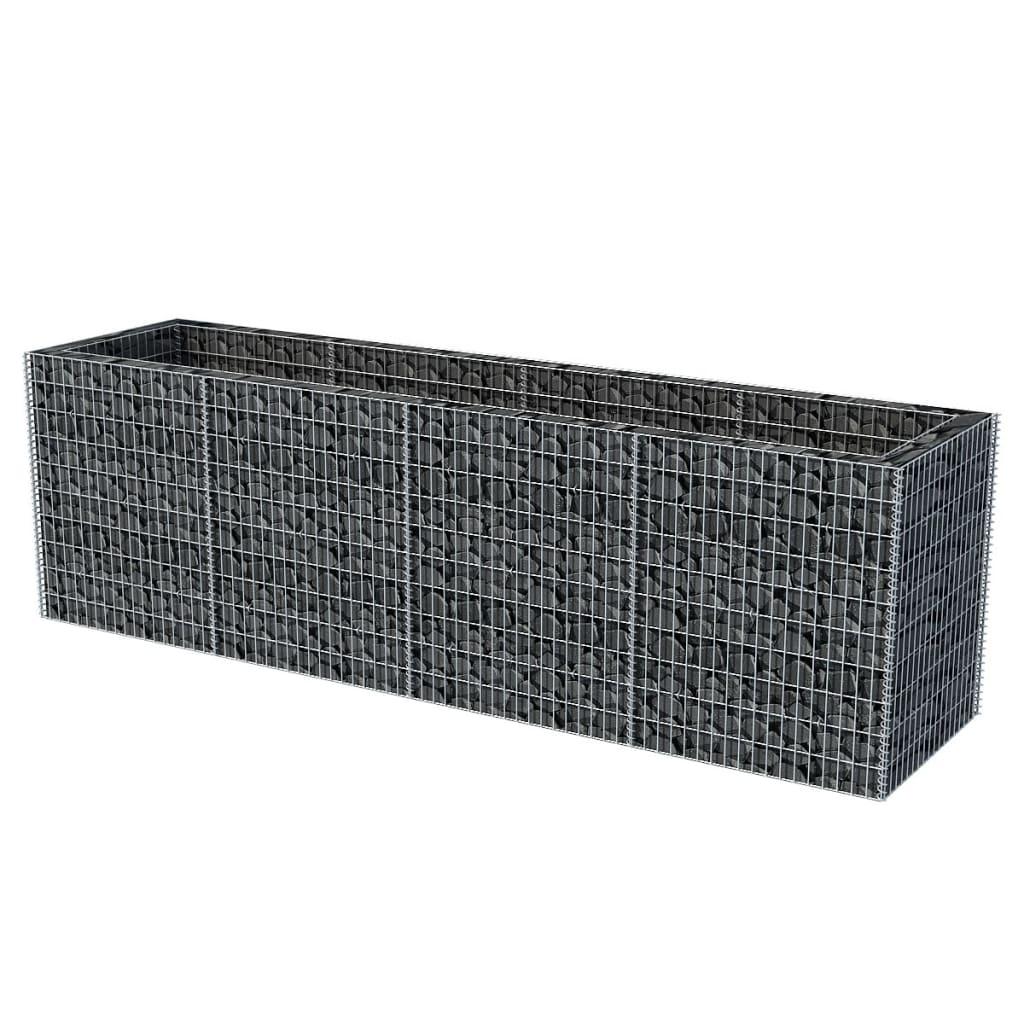 vidaxl donica gabionowa ze stali 360 x 90 x 100 cm sklep internetowy. Black Bedroom Furniture Sets. Home Design Ideas